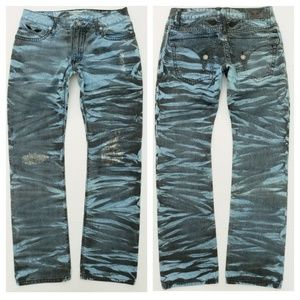 New ROBIN'S JEAN sz 32 Straight Patched Jeans